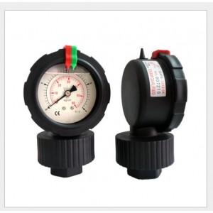 厂家直销进口台湾(STIKO)华记压力表一体PP隔膜式压力表