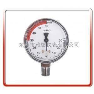 优质供应便携分体式麻醉机AS-02-006微压压力表医用表