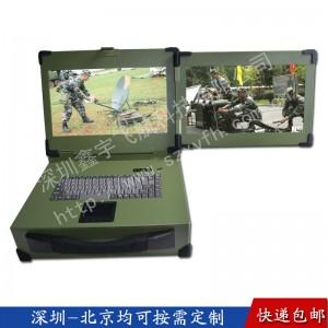 15寸双屏工业便携机机箱定制加固笔记本外壳军工定制