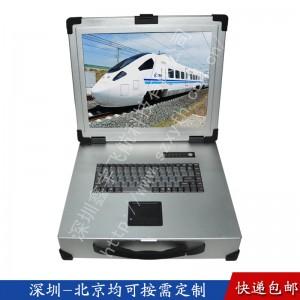 17寸2U工业便携机机箱一体机军工电脑加固笔记本外壳视频采集
