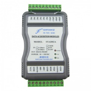 隔离变送器:4-20mA转RJ45多路模拟信号采集转换