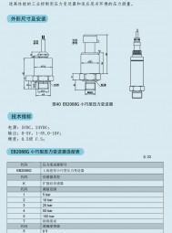 EB2088G型小巧压力变送器(选型) 上海恩邦
