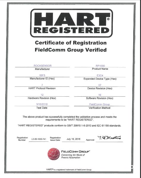 广州洛丁森产品通过HART证书