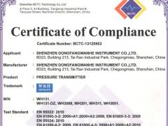 热烈祝贺万和仪表取得欧盟CE认证