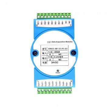 5V脉冲编码器信号转PLC信号隔离转换