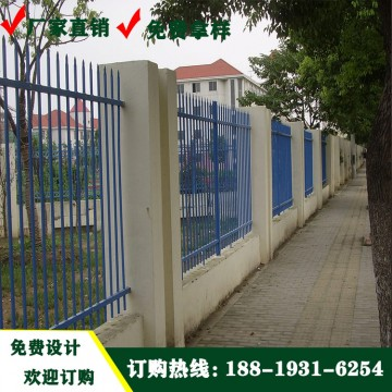 东莞学校围墙锌钢护栏 成品热镀锌围