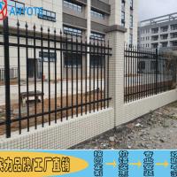 公园金属围栏 阳江铁艺围墙 惠州厂区外墙锌钢护栏价格实惠