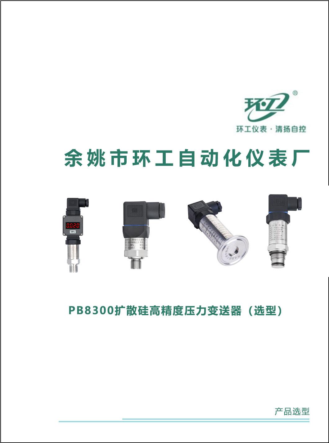 PB8300扩散硅高精度压力变送器-环工仪表-清扬自控