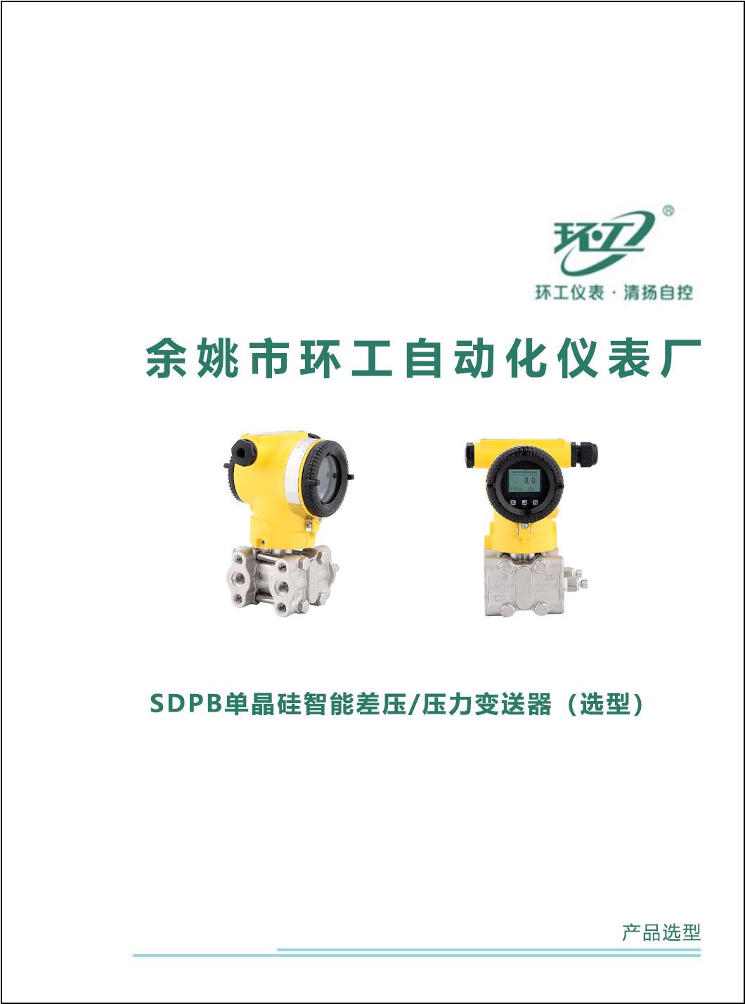 SDPB单晶硅智能差压/压力变送器-环工仪表-清扬自控