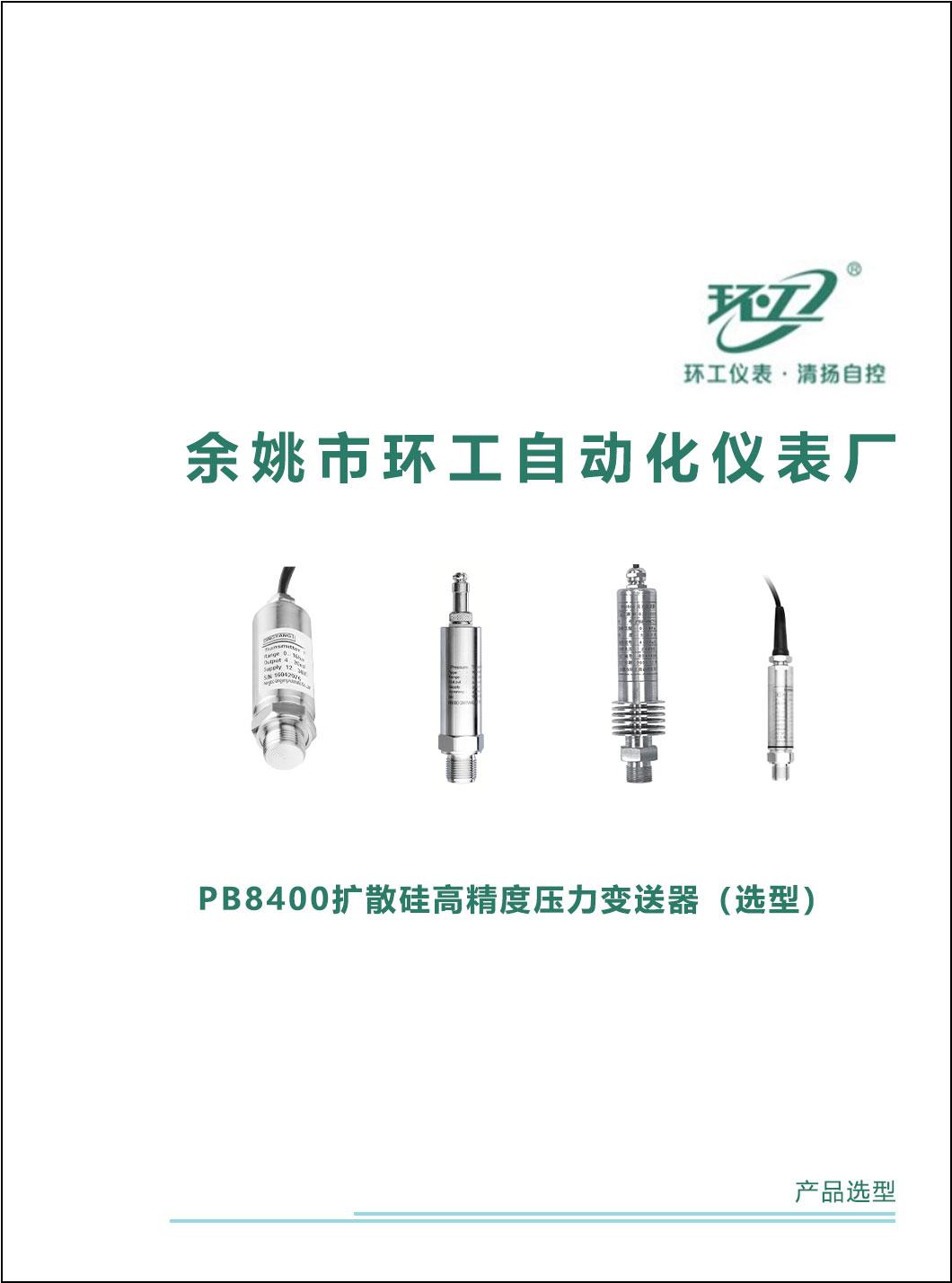 PB8400扩散硅高精度压力变送器-环工仪表-清扬自控