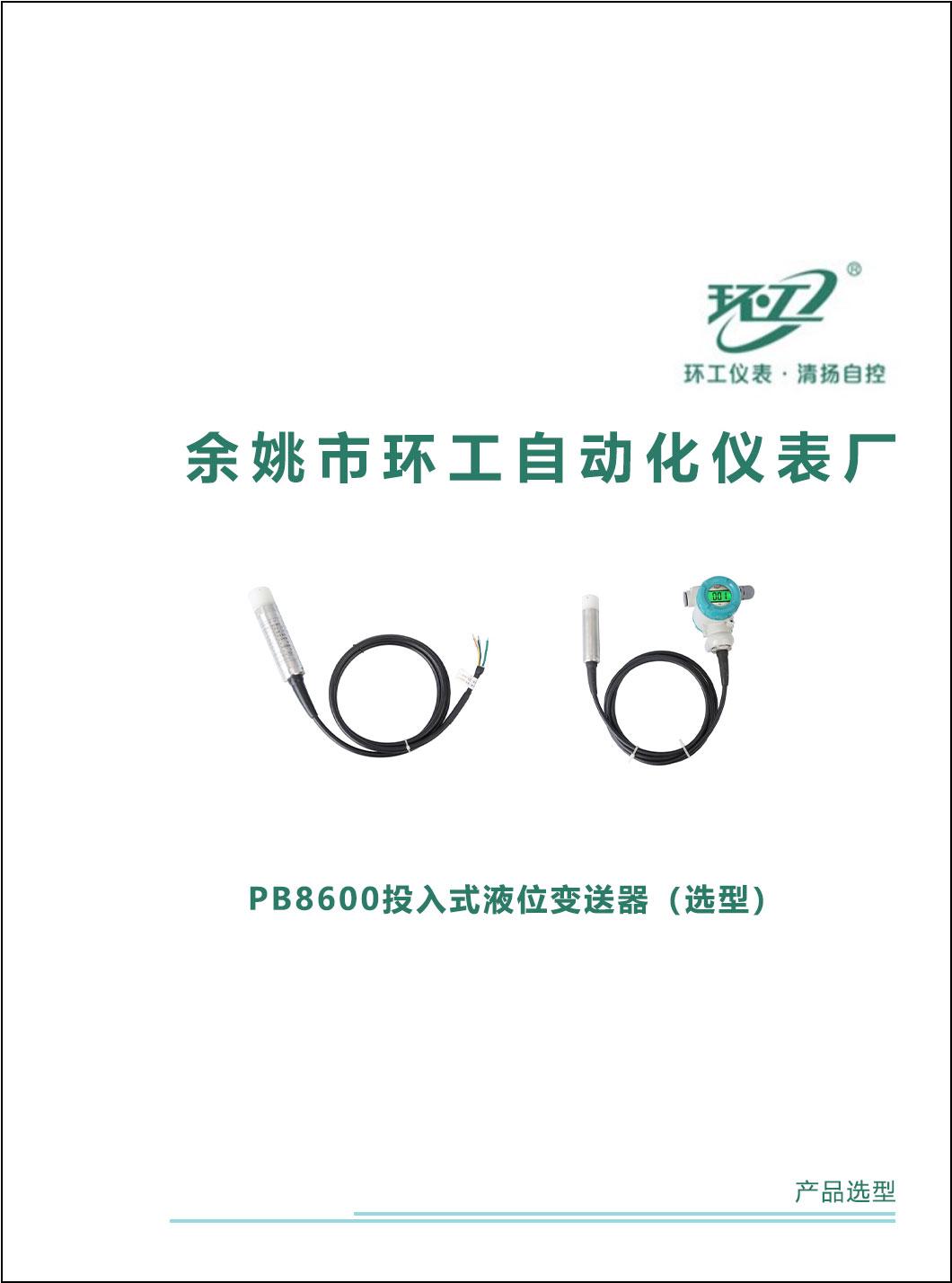 PB8600投入式液位变送器-环工仪表-清扬自控