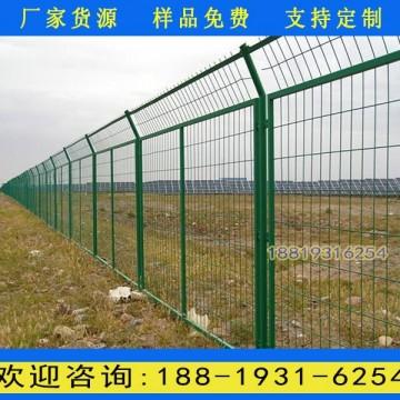珠海浸塑钢丝围栏网 汕头扁铁框架护