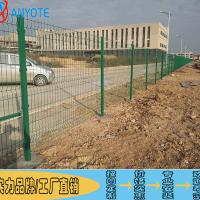 定制弯头型框架护栏网 茂名污水厂围栏 湛江港口钢板网 铁丝网