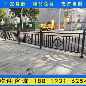 广州城市道路栏杆厂家 人行道路黑色